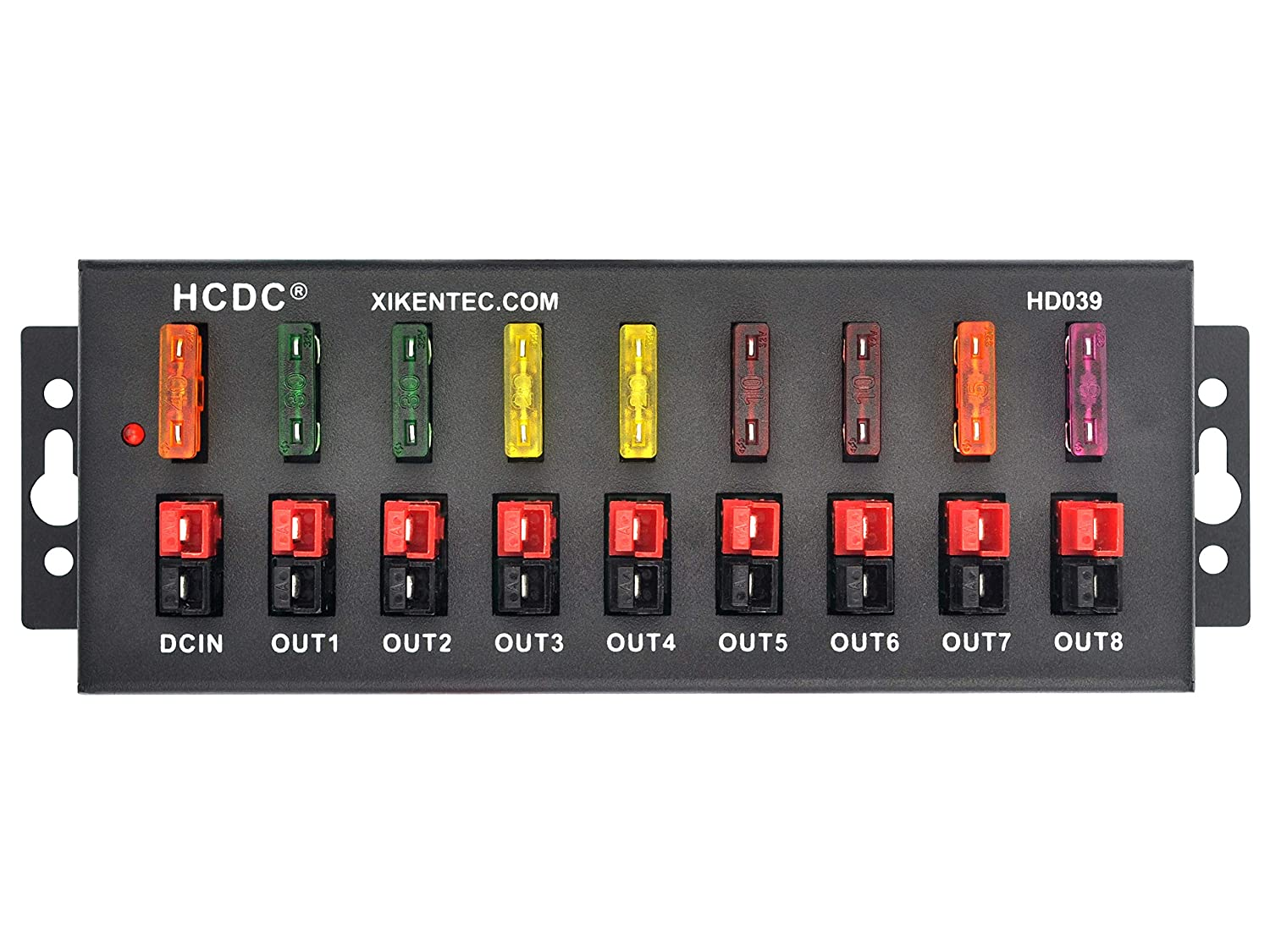 HCDC 1 in 8 Out 40Amp Connector Power Splitter Distributor Source Strip Module