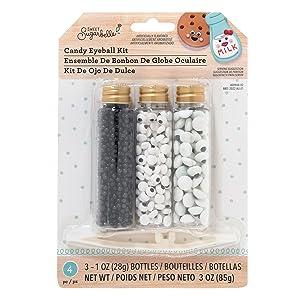 Sweet Sugarbelle Candy Sprinkles Kit-Eyeballs Cookie Supplies, None