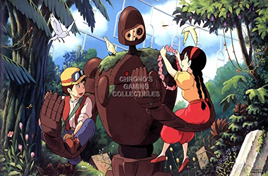 "Castle in the Sky Print 13/""x19/"" Signed Studio Ghibli Laputa"