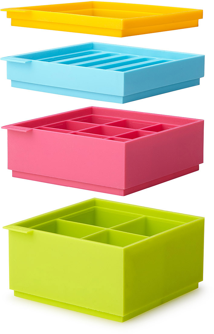 Stackable Ice Tray Set | silicone ice cube tray | UncommonGoods