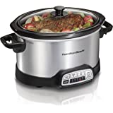 Hamilton Beach 33443 Slow Cooker, SILVER