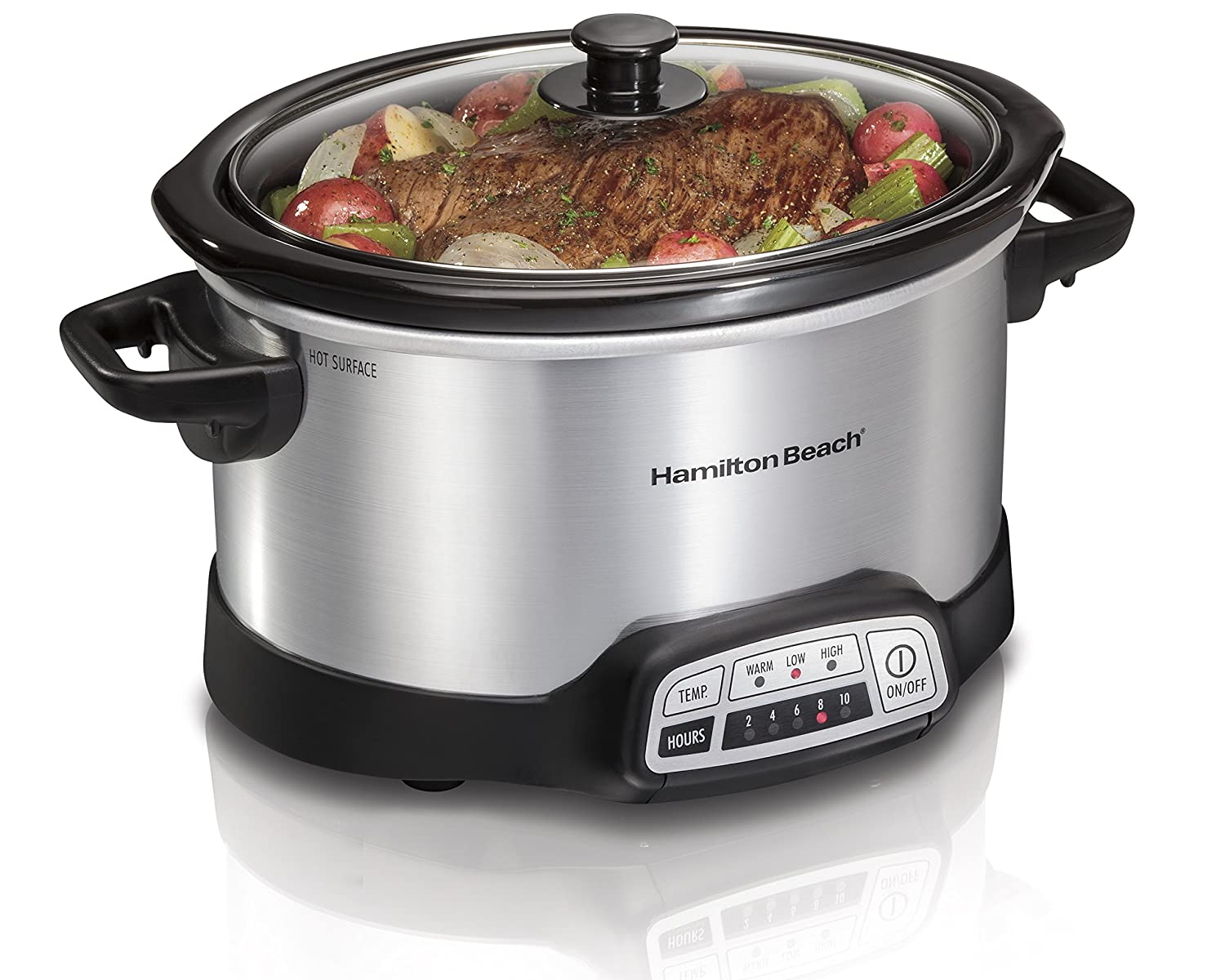Hamilton Beach 33443 Electric Slow Cooker SILVER