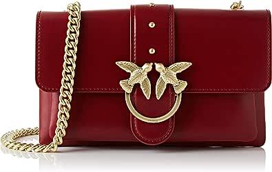 Pinko Mini Love Soft 1, Bolsa de mensajero para Mujer, beige, 4x14x24 centimeters (W x H x L)