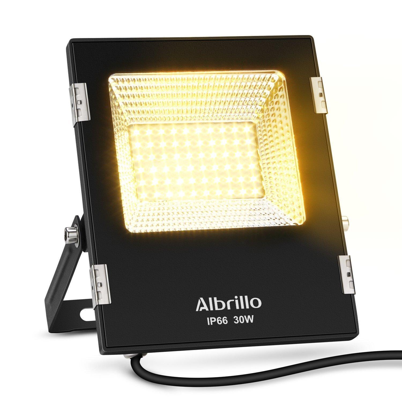 Albrillo 30 W LED Blanco Cálido Foco IP65 Foco Luz Bombilla Faro AC110 - 240 V en Negro [Clase Energética A + +] [Clase de Eficiencia Energética A+]: ...