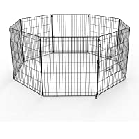 """30"""" Pet Playpen Dog Dence Exercise Pen, 8 Panel Pet Dog Playpen Puppy Enclosure Fence Play Pen, Indoor/Outdoor Foldable…"""