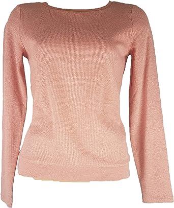 VILA CLOTHES VIJOANE L/S TOP, Camisa Manga Larga Mujer, Rosa ...