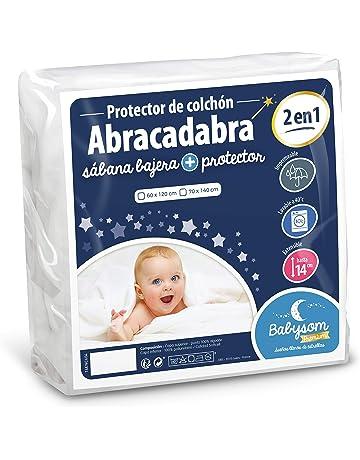 Babysom - Protector Colchón Cuna Bebé « 2 en 1 » - Sábana bajera + Funda