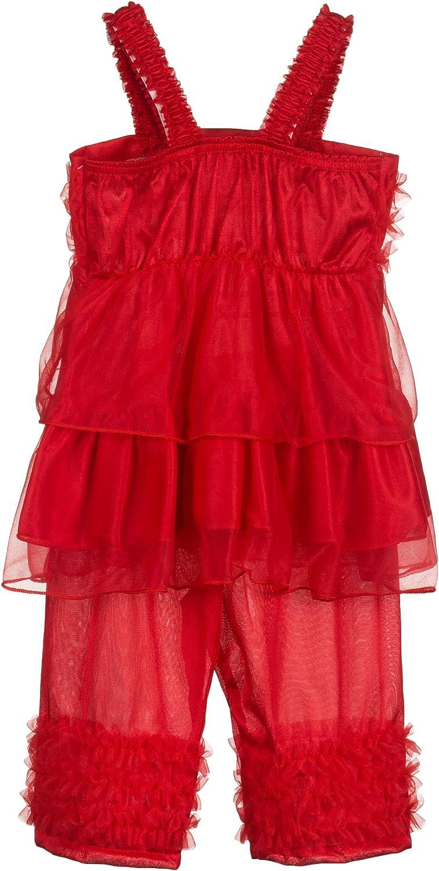Laura Dare Baby Girls Solid Colors BO Peep Style PJ Set w Scrunchie, 6-24m