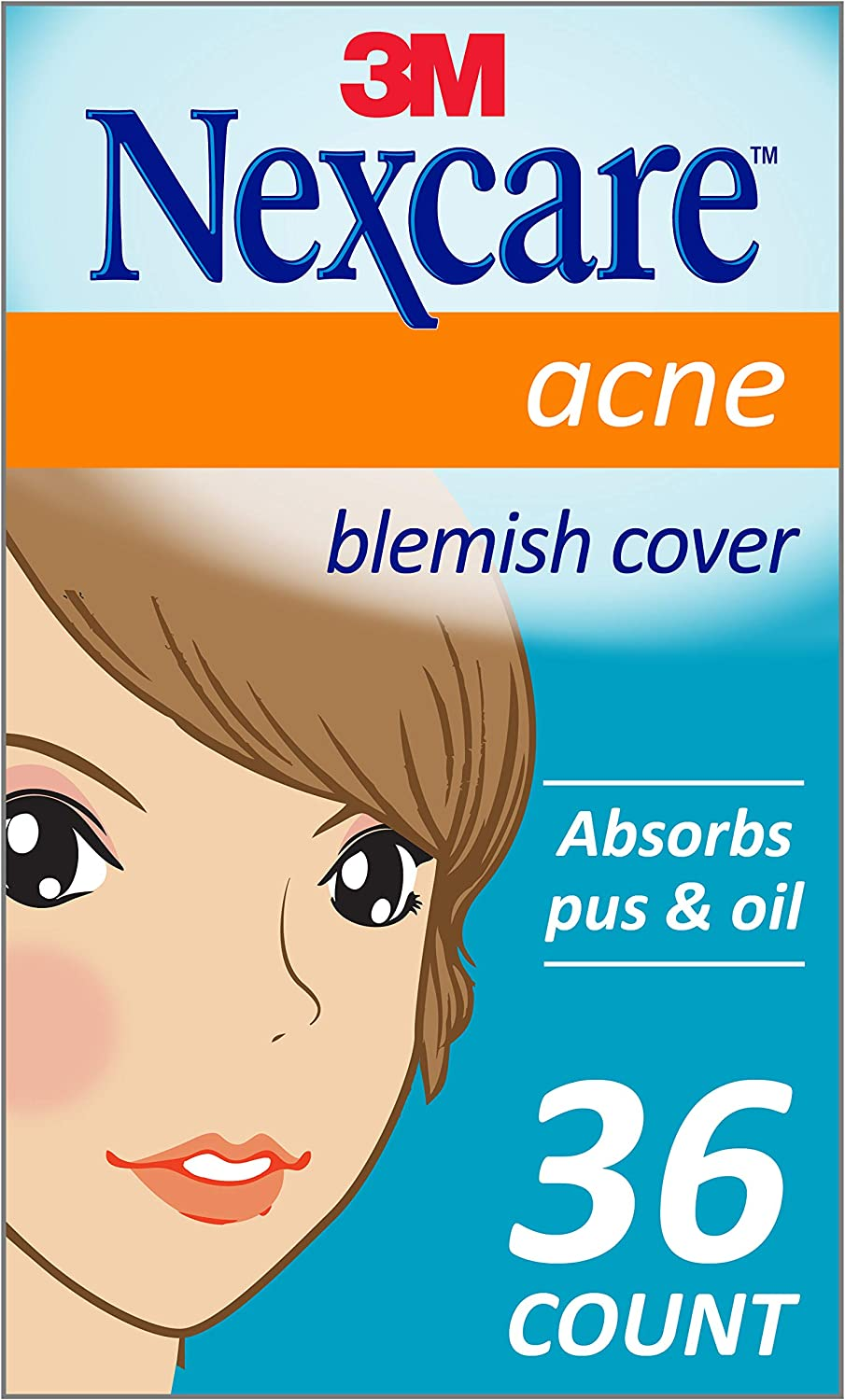 Nexcare Acne Cover, Invisible, Drug Free, 36 Count: Health & Personal Care