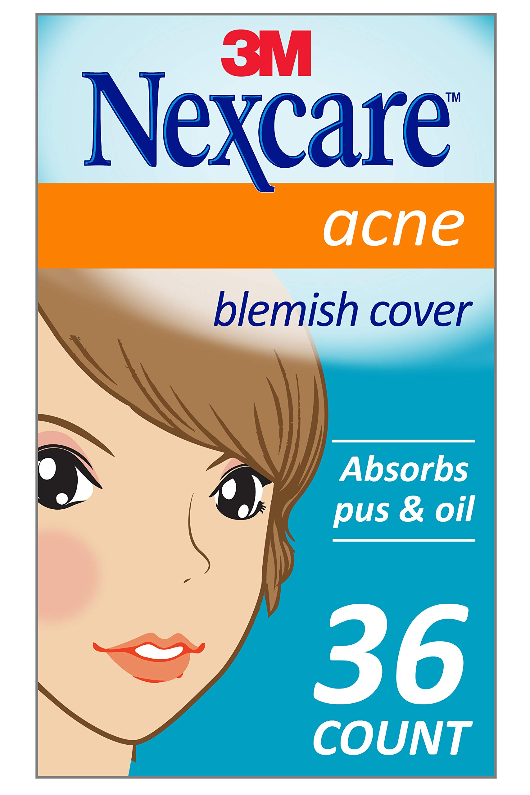 Nexcare Acne Cover, Invisible, Drug Free, Clear 36 Count