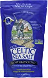 Light Grey Celtic Sea Salt 1 Pound Resealable Bag – Additive-Free, Delicious Sea Salt, Perfect for Cooking, Baking and…