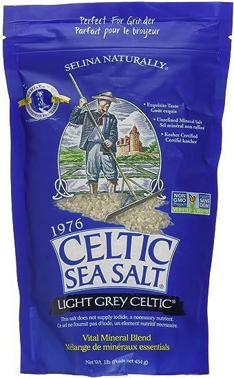 Light Grey Celtic Sea Salt 1 Pound Resealable Bag – Additive-Free,  Delicious Sea Salt, Perfect