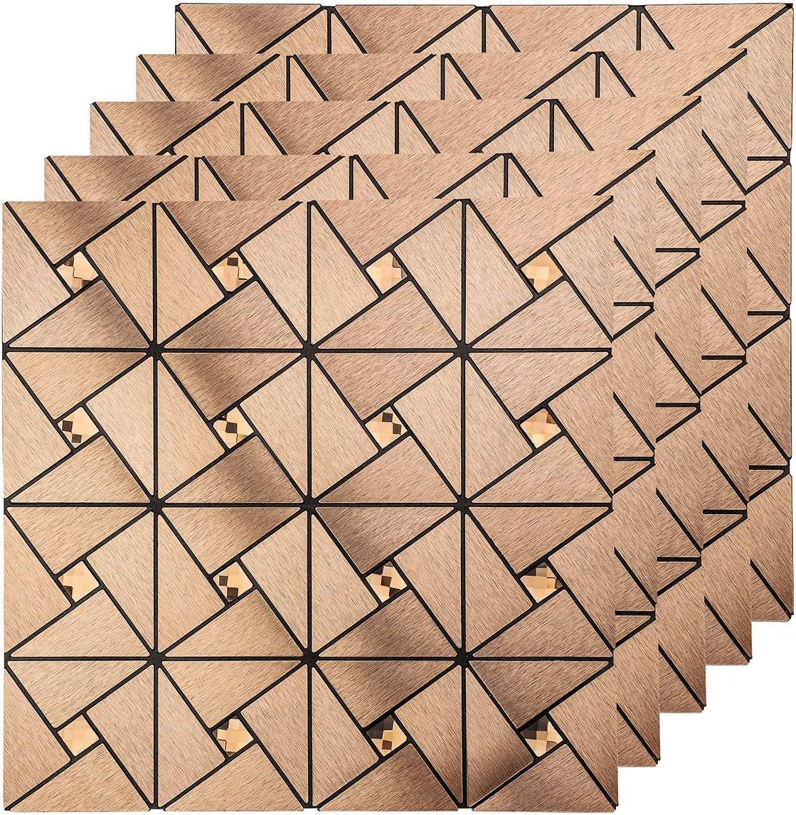 Klebefliesen Geb/ürstetes Metall-Finish 3D Wandpaneele K/üchen Badezimmer 30 x 30cm Bronze 10 St/ück LEISIME Fliesenaufkleber Tapete Selbstklebend