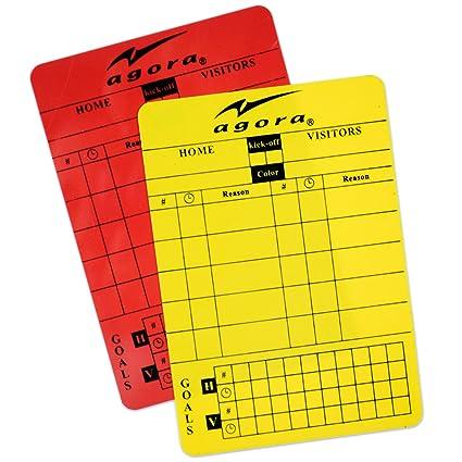 f52b6775a1 Amazon.com   AGORA Write-On Red Yellow Soccer Referee Card   Sports ...