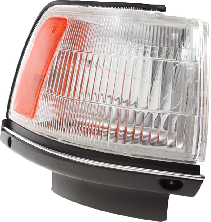 Corner Light Compatible with 1987-1991 Toyota Camry Plastic Clear /& Amber Lens With bulb Driver Side