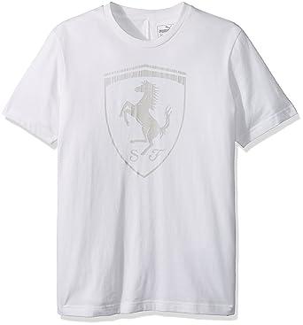 6cc9e5b74f9d Amazon.com  PUMA Men s Ferrari Big Shield T-Shirt  Clothing