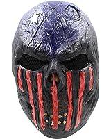 CreepyParty Máscara de Cabeza Humana de Fiesta de Traje Lujo de Halloween de Novedad Los ladrones