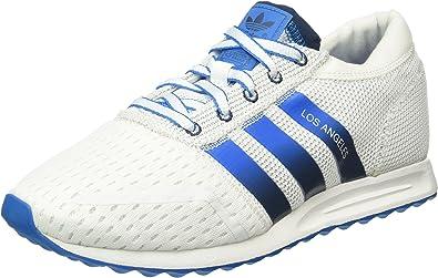 Bienes retirada choque  adidas Los Angeles, Zapatillas para Hombre, Blanco (FTWR White/Mineral  Blue/Shock Blue), 40 2/3 EU: Amazon.es: Zapatos y complementos