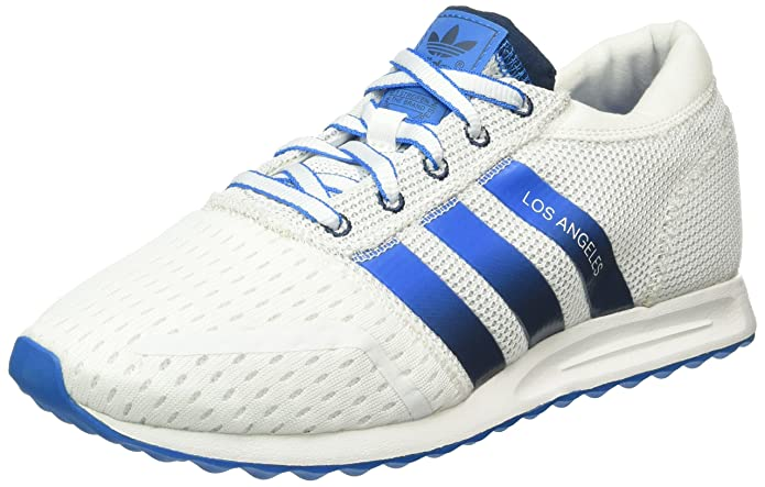 adidas Los Angeles Schuhe Herren weiß / blaue Streifen und Sohle