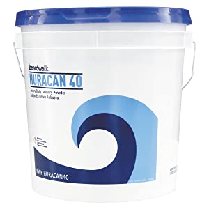 Boardwalk BWKHURACAN40 Low Suds Industrial Powder Laundry Detergent, Fresh Lemon Scent, 40lb Pail