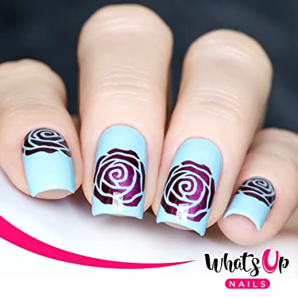 Buy Whats Up Nails Rose Petals Nail Stencils Stickers Vinyls For