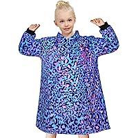 Nidoul Oversized Blanket Sweatshirt, Comfy Fleece & Sherpa Hoodie for Kid Teen Girls 5-15T, Wearable Unicorn Mermaid…