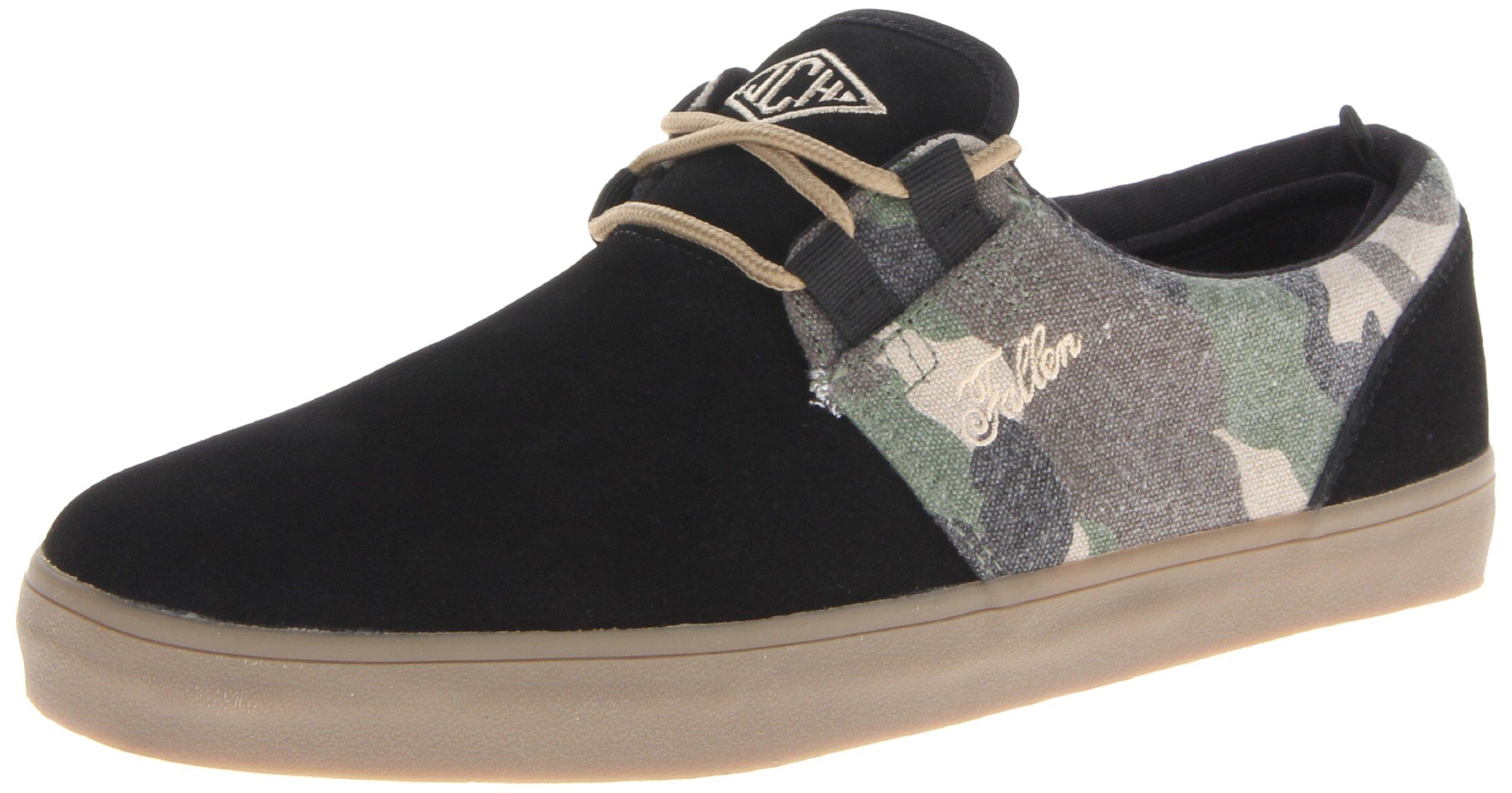 Fallen Capitol Skateboarding Shoe,Black/Camo,11.5 M US