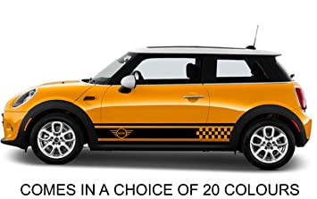 Mini Cooper S One Side Car Stripes Vinyl Graphics Decal Sticker
