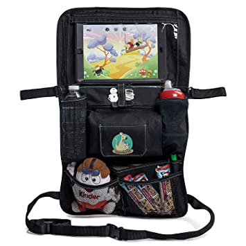 backseat car organizer for kids babies toddlers by babyseater ipad tablet touch screen holder