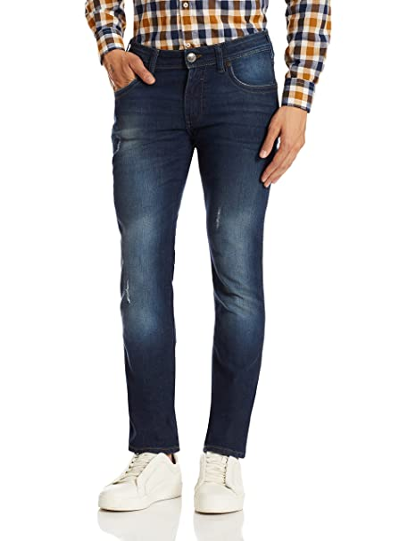 3e692394 Wrangler Men's Skanders Slim Fit Jeans (8907222651237_W15545W2298B_40W x  33L_Brushed Orion): Amazon.in: Clothing & Accessories