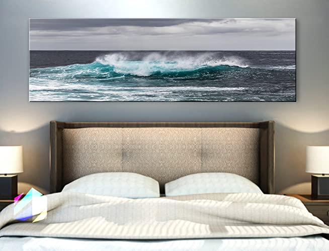 Merveilleux Original By BoxColors Single Panel 3 Size Options Art Canvas Print  Panoramic Nature Beach Tropical Ocean
