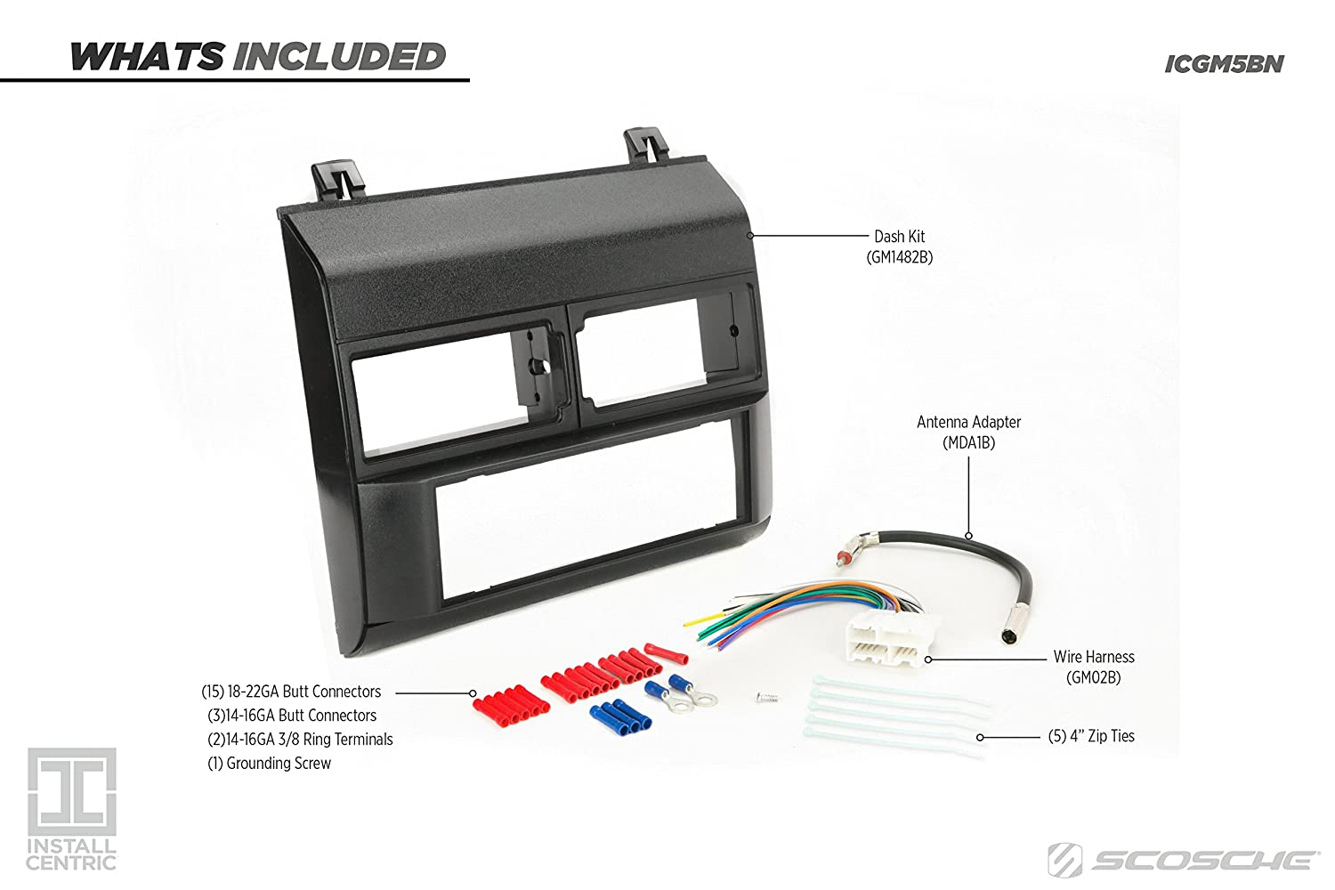Install Centric ICGM4BN GMC//Chevrolet Full Size 1988-94 Truck BLUE Complete Installation Solution for Car Stereos