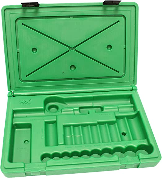 94547-12 and 94549 3//8 Drive Socket Sets SK Hand Tool ABOX-94547 Blow-molded replacement case for 94547 Green