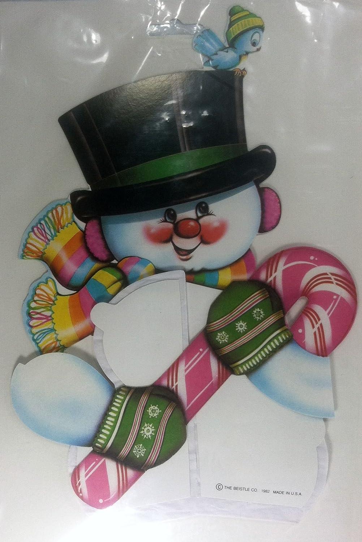 Snowman Art-Tissue Centerpiece