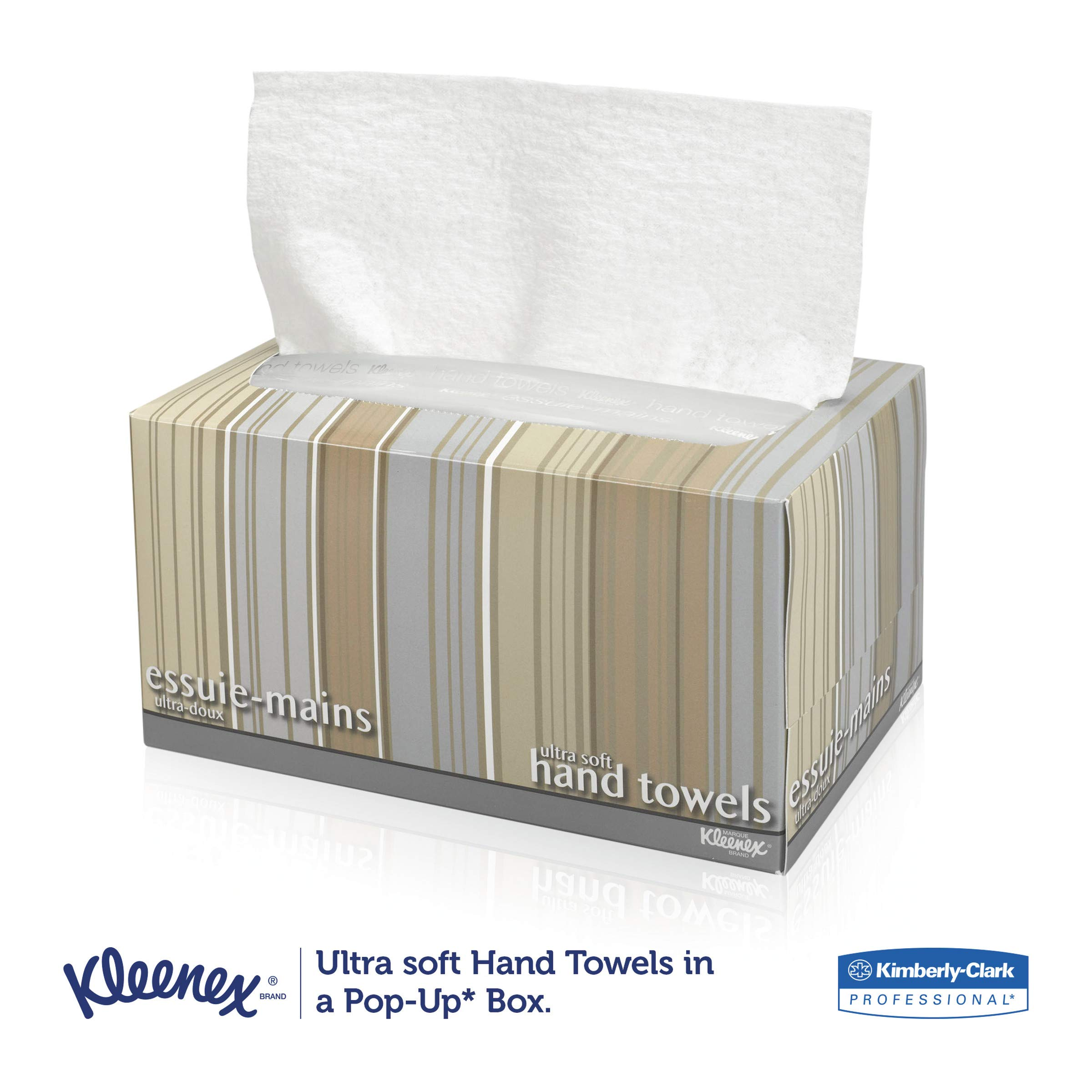 Kleenex 11268CT Ultra Soft Hand Towels, POP-UP Box, White, 70 per Box (Case of 18 Boxes) by Kleenex (Image #3)