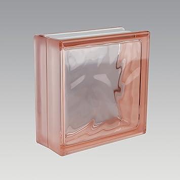 5 Stück Fuchs Glasbausteine Glassteine Wolke Grau 19x19x8cm