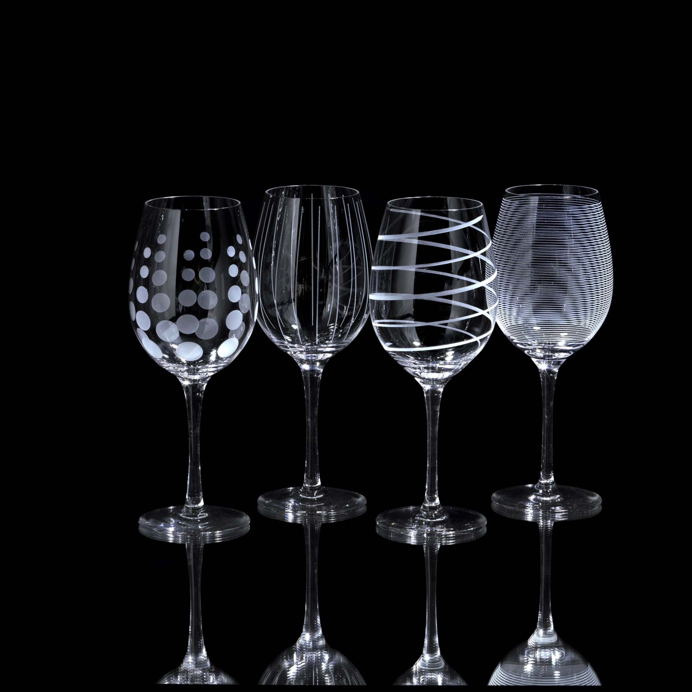 Mikasa Cheers Precision-Etched 16-oz White Wine Glasses, (Set of 4) by Mikasa (Image #2)