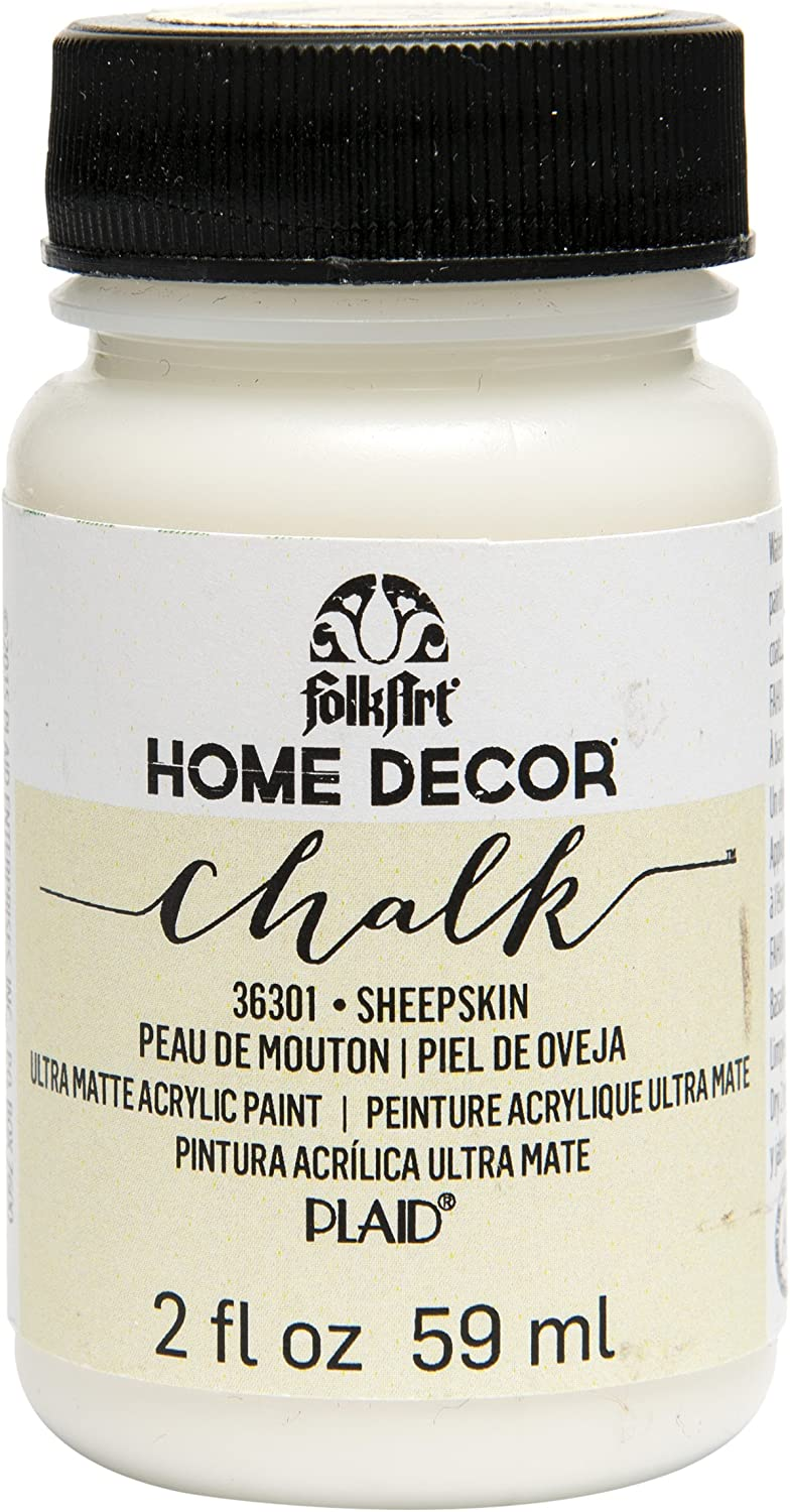 Amazon Com Folkart 36301 Home Decor Chalk Furniture Craft Paint In Assorted Colors 2 Ounce Sheepskin