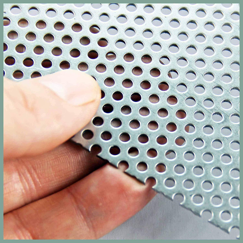 3mm Aluminium Perforated Mesh - A4 x 3 The Mesh Company