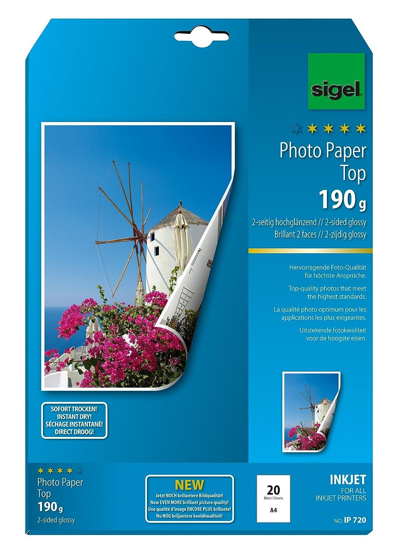 Sigel IP720 Top - Papel de fotografía doble cara para ...
