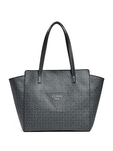 dde0c4dd8ba30 GUESS Women s Liberate Large Tote Bag Handbag (Black)  Handbags ...