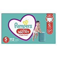 Diapers Size 5, 112 Count - Pampers Pull On Cruisers 360° Fit Disposable Baby Diapers...
