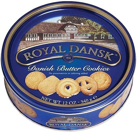 Amazon.com: Royal Dansk Cookies, mantequilla danesa, lata de 12 onzas,  paquete de de 1, 12: Health & Personal Care