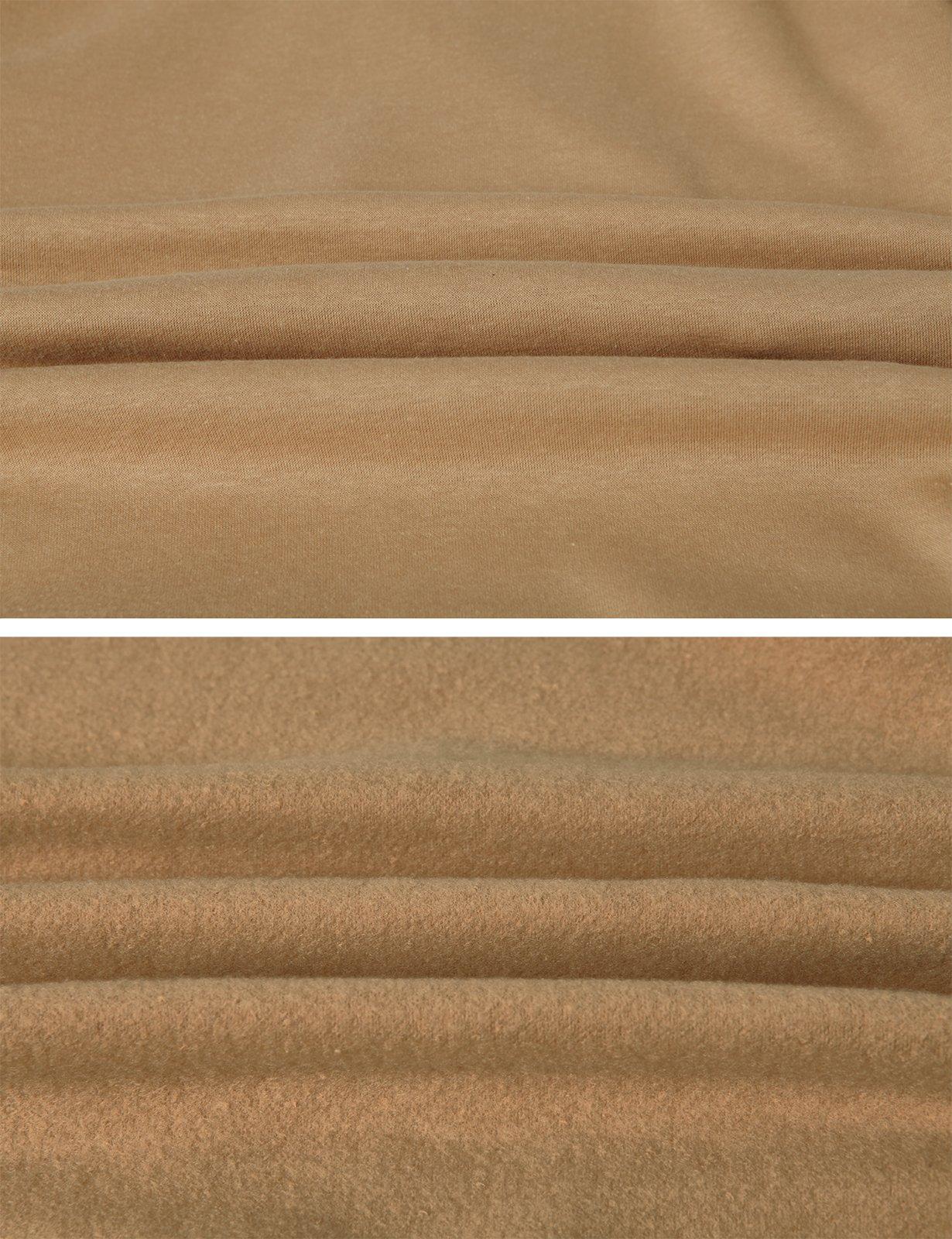 H2H Men's Fine Quality Plush Fleece Lined Pullover Beige US L/Asia XL (KMOHOL0126) by H2H (Image #5)