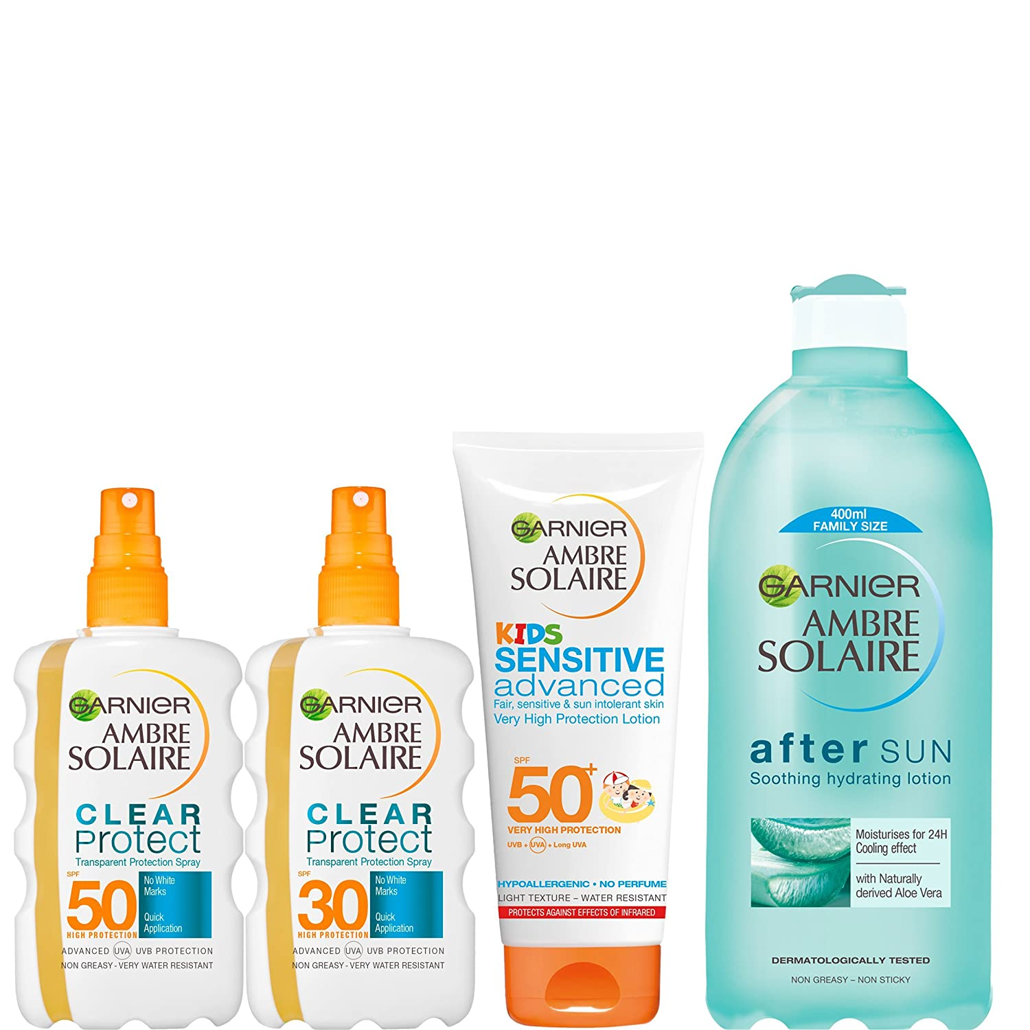 Ambre Solaire Clear Protect Sun Cream Spray SPF 20 200ml Garnier 3600540282828