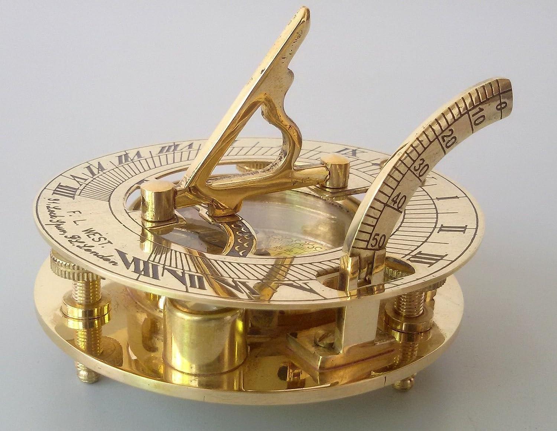 Nautical Hub 4' Sundial Compass - Solid Brass Sun Dial