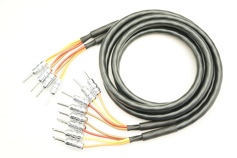 MOGAMI 2972 バイワイヤリング対応 2本ペア ロジウムバナナプラグ付 スピーカーケーブル (2本-4本) (3m) B07CJFZ87B 3m