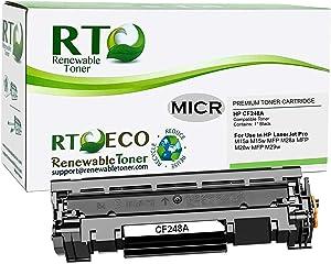 Renewable Toner Compatible MICR Toner Cartridge Replacement for HP CF248A 48A Laserjet M15 M16 M28 M29