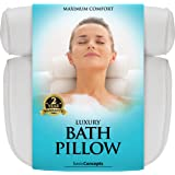 Bath Pillow (Premium Quality), Luxury Bathtub Pillow Rest (Powerful Suction Cups), Bath Pillows for Tub Neck and Back…
