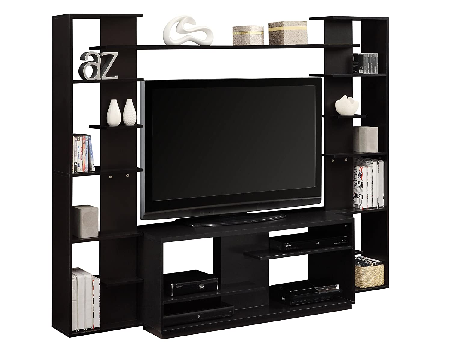 Merveilleux Amazon.com: Altra Watson Home Entertainment Center With Reversible Back  Panels, Black: Kitchen U0026 Dining